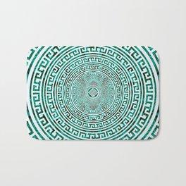 Circular Greek Meander Pattern - Greek Key Ornament Bath Mat
