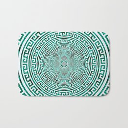 Circular Greek Meander Pattern - Greek Key Ornament Bath Mat