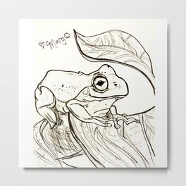 Tranquil Tree Frog Metal Print