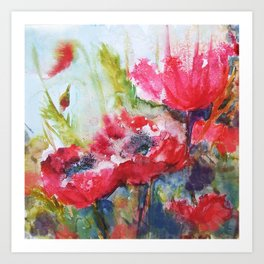 Poppies 06 Art Print