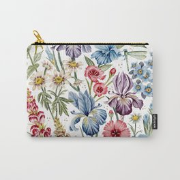 Wildflowers & Insects Carry-All Pouch
