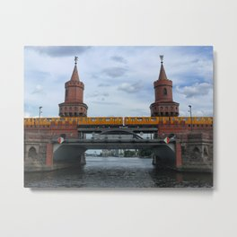The Oberbaum Bridge, BERLIN Metal Print