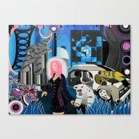cyberpunk Canvas Prints featuring Cyberpunk Aesthetics 3 by thomasalbany