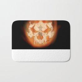 Flaming skull Bath Mat