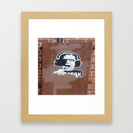 Frankenstein Freak Framed Art Print