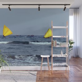 Yellow Sails Seascape Wall Mural