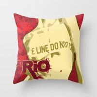 rio Throw Pillows featuring RIO by JUSSRAY