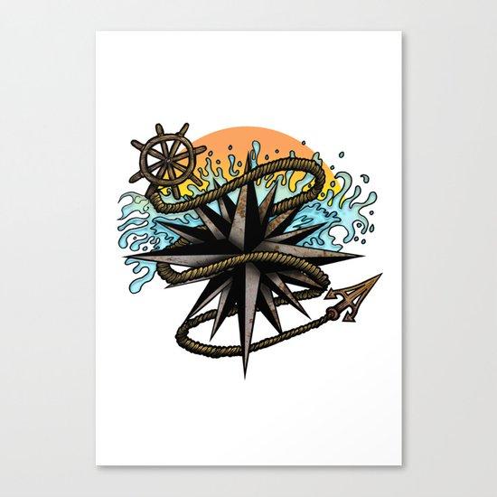 Nautical Splash Canvas Print