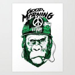 Gorilla Vietnam Art Print
