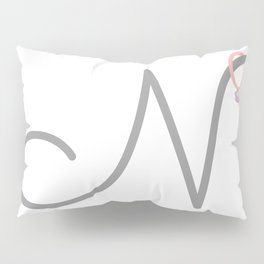 N Initial with Stitch Marker Pillow Sham