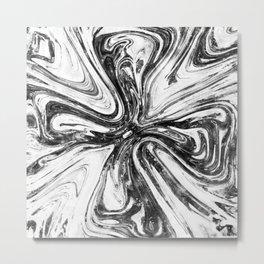 Abstract Cross - Watercolor Metal Print
