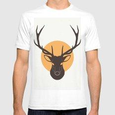 Deer MEDIUM White Mens Fitted Tee