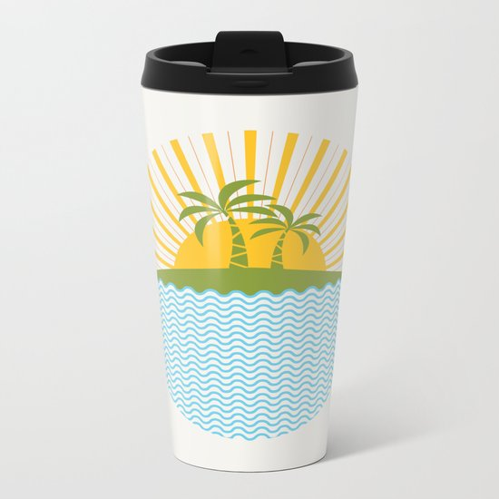 Summer Sun Metal Travel Mug