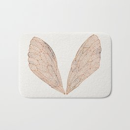 Cicada Wings in Rose Gold Bath Mat