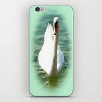 swan iPhone & iPod Skins featuring Swan by Art-Motiva