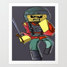 Eddie the Starship Trooper - Minecraft Avatar Art Print