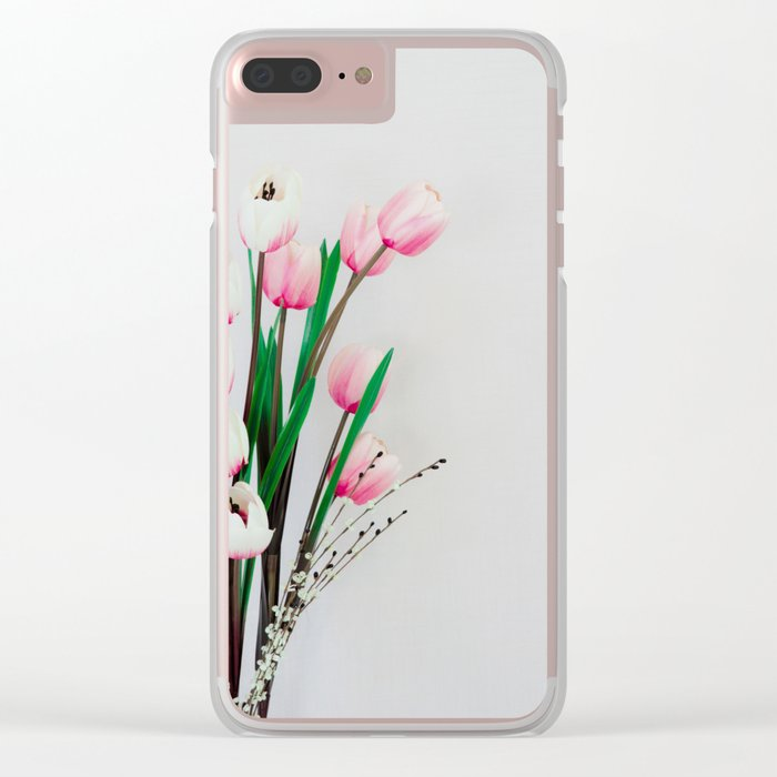Tulips in spring Clear iPhone Case