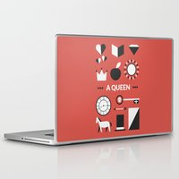 ouat Laptop & iPad Skins featuring OUAT - A Queen by Redel Bautista