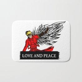 love and peace Bath Mat