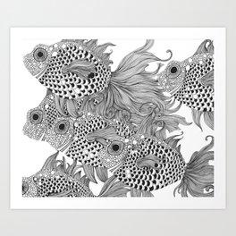 White Fish I Art Print