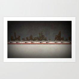 Train Scene Art Print