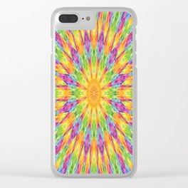 Rainbow Mandala Clear iPhone Case