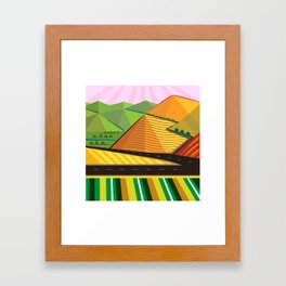 Valle de Guadelupe Farms Framed Art Print