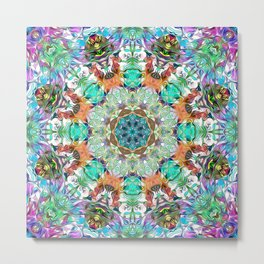 Colorful Concentric Abstract Metal Print