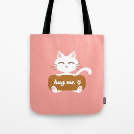 Hug Me Nyanko Tote Bag