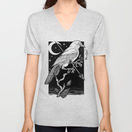 Night Crow Unisex V-Neck