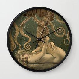 """""""Mermaid & Octopus No. 4"""" by David Delamare (No Border) Wall Clock"""