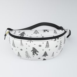 trees + yeti pattern Fanny Pack