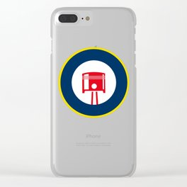 Piston roundel Clear iPhone Case