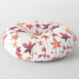 Dead Leaves over White Floor Pillow