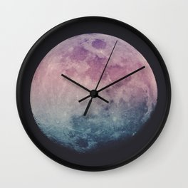 Pastel Moon Wall Clock