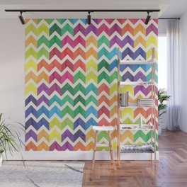 Watercolor Chevron Pattern IV Wall Mural