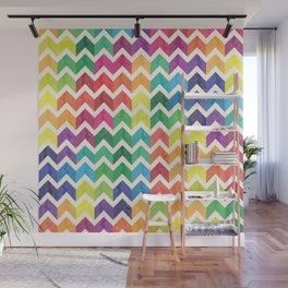 Watercolor Chevron Pattern IV Wall Mural