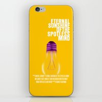 eternal sunshine of the spotless mind iPhone & iPod Skins featuring Eternal Sunshine Of The Spotless Mind Movie Poster by FunnyFaceArt
