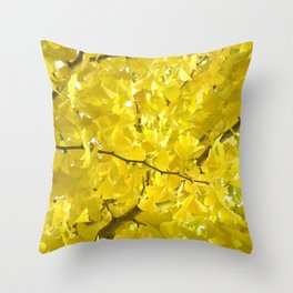 Leaves of the tree Throw Pillow