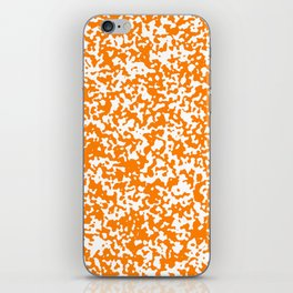 Small Spots - White and Orange iPhone Skin