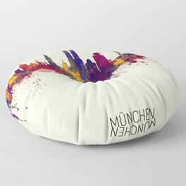 Munich Germany Skyline Floor Pillow