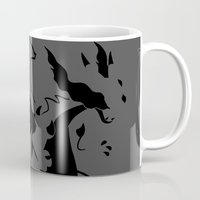charizard Mugs featuring Charizard Mega X by Ruo7in