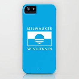 Milwaukee Wisconsin - Cyan - People's Flag of Milwaukee iPhone Case