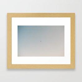 Minimalist airplane over Sicily print, film photograph Framed Art Print
