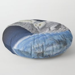 Winter Hunt Floor Pillow