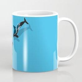Killer whale hunting a seal Coffee Mug