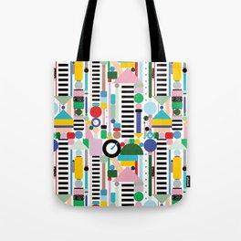 Memphis Milano Postmodern City Towers Tote Bag