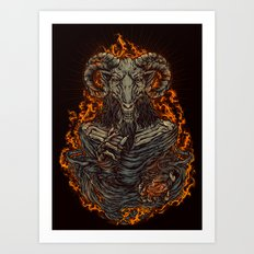 lord of goat Art Print