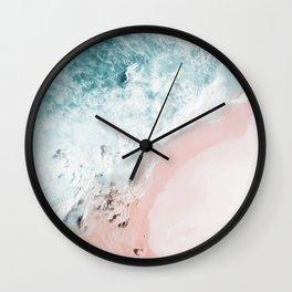 Ocean Pink Swirl Wall Clock