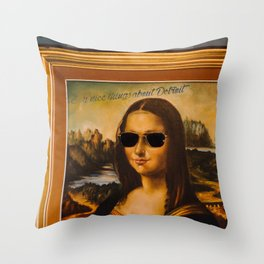 SAY NICE THINGS ABOUT DETROIT Throw Pillow